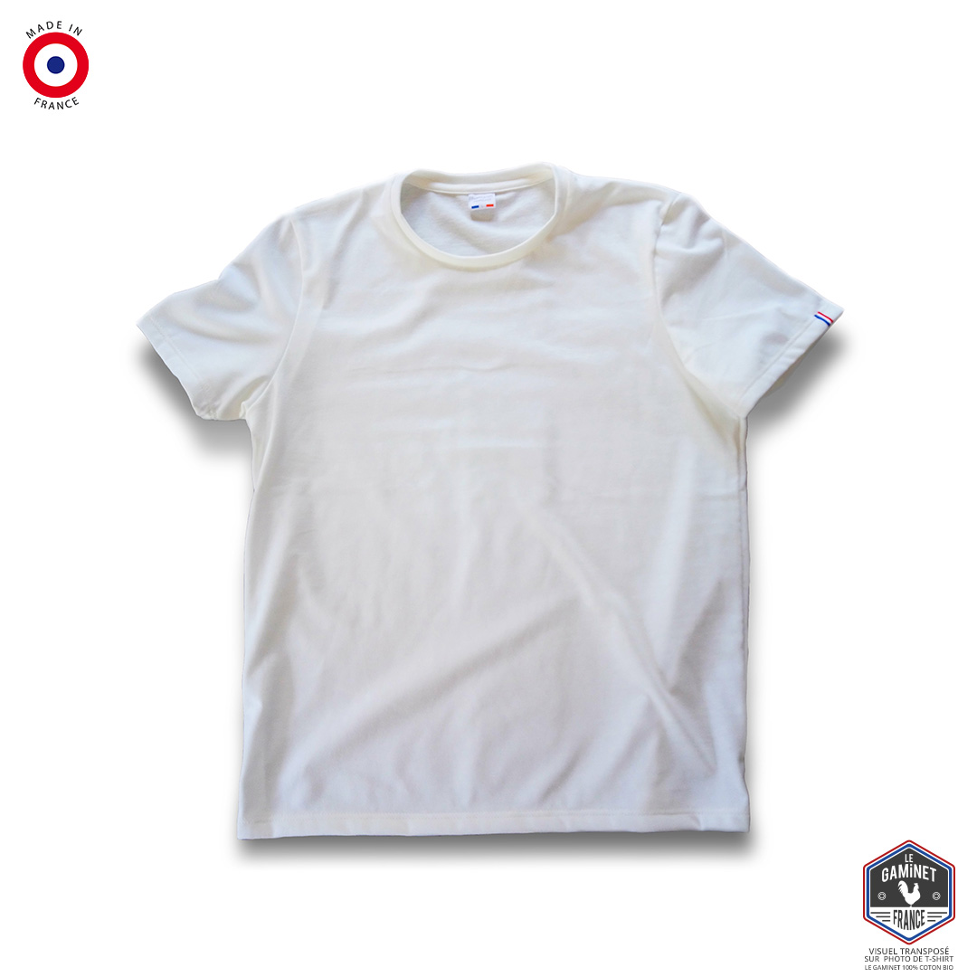 T-shirt vierge Le Gaminet 100% coton bio (made in France)